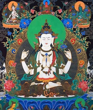Buddhaweeklychenrezigavalokitesvarawitht